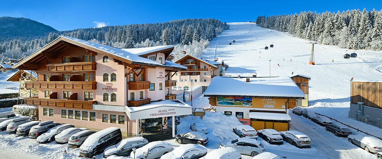 Hotel Vierjahreszeiten – Winterurlaub direkt an der Piste in Flachau, Ski amadé, Salzburger Land