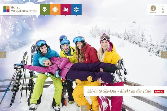 Neue Website - Hotel Vierjahreszeiten - Flachau