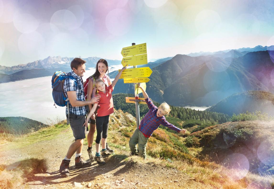 Wandern in Flachau - Salzburger Land - Hotel Vierjahreszeiten