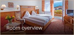 Zimmerübersicht - Hotel Vierjahreszeiten Flachau